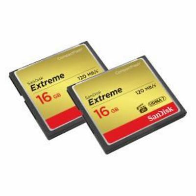 Sandisk SDCFXS2-016G-X46 - COMPACT FLASH CARD 16 GB  - 2 x 16GB Extreme CF, ...
