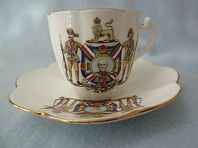 Boer War Cup And Saucer  Baden Powell Kitchener Etc Pre Shelley Wileman