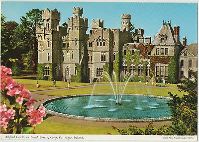 ASHFORD CASTLE ON LOUGH CORRIB CONG Co. MAYO 1964 USED JOHN HINDE POSTCARD 2/32