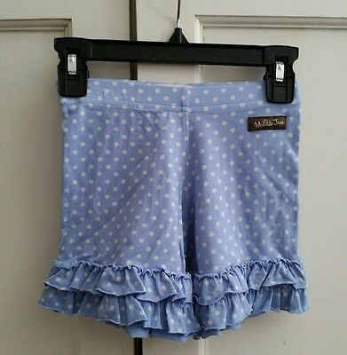 matilda jane it's a  wonderful parade blue bliss polka dot ruffle shorties 6