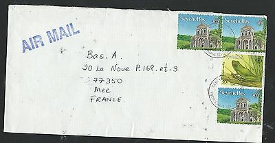 Seychelles (P3006B) 4 Stamp Including Frog Frank A/m To France