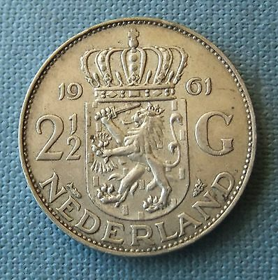 1961 Netherlands Silver 2½Gulden Coin