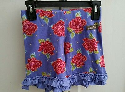 matilda jane paint by numbers barnyard blue red rose floral ruffle shorties 10