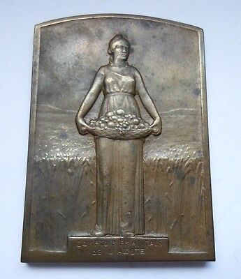 CERES / FRENCH AGRICULTURE ART BRONZE MEDAL by SUSSE FRERES