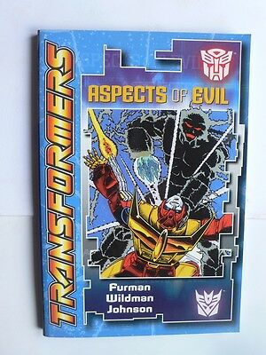 Transformers.Aspects of Evil.Simon Furman.Graphic Novel.1st.2005.Black and white