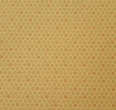 Holly Print BTY Faye Burgos for Marcus Brothers Tan Leaves Berries on Cream