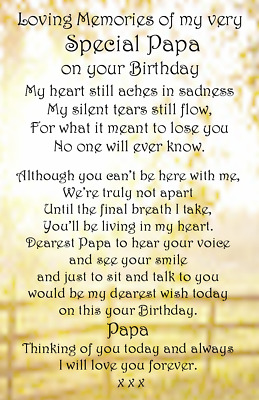 Male Bereavement Grave Card DAD SON BROTHER GRANDAD uncle Memorial Birthday  M1
