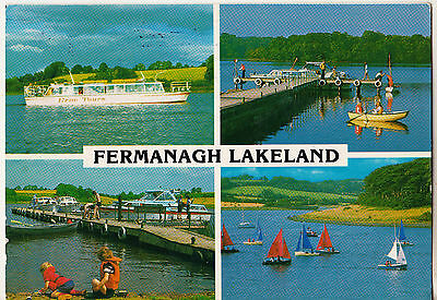 Fermanagh Lakeland 2001 Postcard With 1St Class Ulster Stamp John Hinde 2Ni 126
