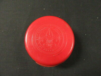 Boy Scout Red Collapsible Cup 1960's, Wecolite       c45