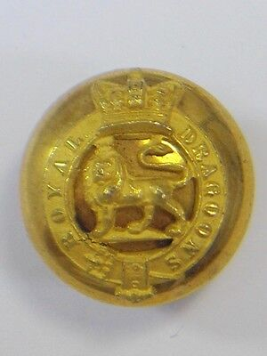 Royal Dragoons original  Victorian Officers Large Button.