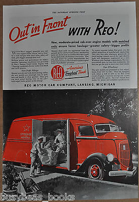 1938 REO Truck advertisement, REO Cab-over-engine delivery truck