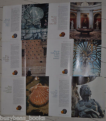 1961 SHELL OIL 2 page advertisements x6, Scallop Shell, art, Salvador Dali etc