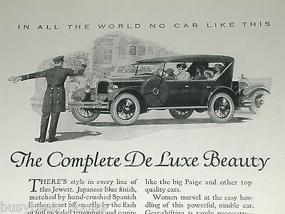 1924 Jewett Six advertisement, Paige Motors Jewett Six De Luxe Touring car