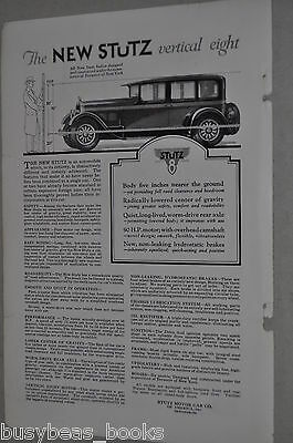 1926 Stutz advertisement, Stutz Motor Car Company, Stutz 8 Sedan