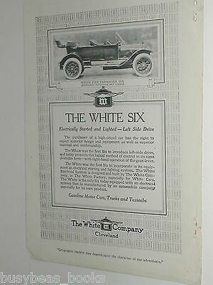 1913 The White Company advert page, Motor Cars Co, The White Six