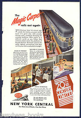 1946 NEW YORK CENTRAL RR advertisement, 20th Century Limited, Red Carpet
