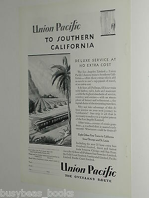 1929 Union Pacific RR ad, Los Angeles Limited, So. CA