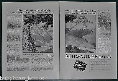 1927 MILWAUKEE ROAD advertisement, C M St P & P Railway