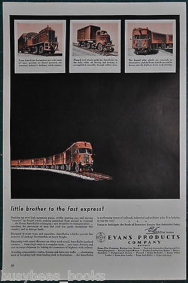 1943 EVANS AUTO-RAILER advertisement, early truck-rail combo