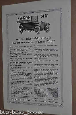1916 Saxon 'Six' Automobile advertisement, SAXON Touring car
