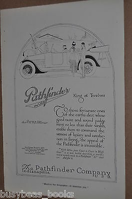 1916 PATHFINDER Automobile advertisement, Chauffer, Touring car