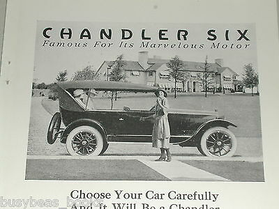 1921 Chandler Motor Car Co. advertisement, Chandler Six