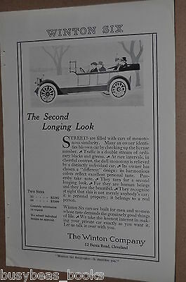 1916 Winton Motor Car advertisement, WINTON SIX Automobile