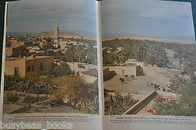 1949 magazine article OASIS-HOPPING IN THE SAHARA, people, history, color photos