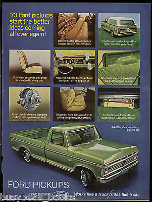 1973 FORD F-100 advertisement, Vintage Ford F100 Pickup truck
