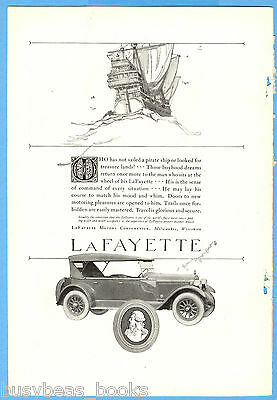 1923 LAFAYETTE Automobile advertisement, large touring car, vintage auto advert