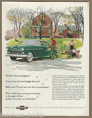 1955 CHEVROLET BEL AIR advertisement, Chevy Bel Air Sport coupe