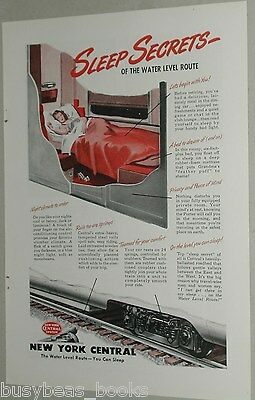 1946 New York Central RR ad, sleeping car cutaway