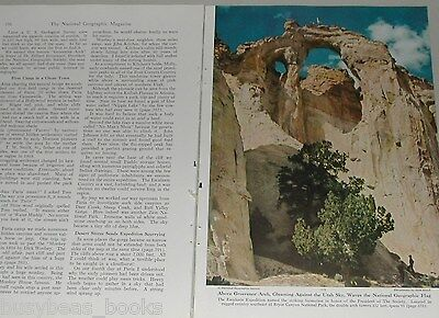 1949 magazine article, Escalante UTAH, color photos, rock forms, western USA