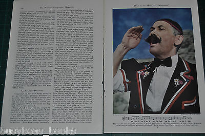 1947 WISCONSIN magazine article, Swiss immigrants, cheese making, color photos