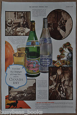 1936 CANADA DRY advertisement, Canada Dry Ginger Ale & Sparkling Water, bottle