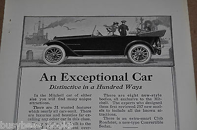 1917 MITCHELL automobile advertisement, Mitchell Six Cabriolet, vintage auto