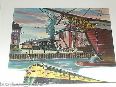 1946 Electro Motive Diesel advertisement, EMD, C&NW locomotive FT A-A set
