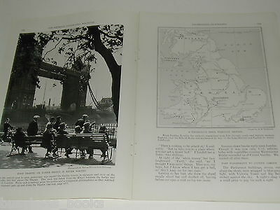 1934 magazine article, Travels in Britain, sights, history etc