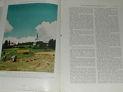 1940 magazine article about Life in  Rural Sweden, pre-WWII, color photos