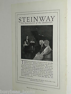1920 Steinway Piano advertisement page, Steinway & Sons, NY, seconds