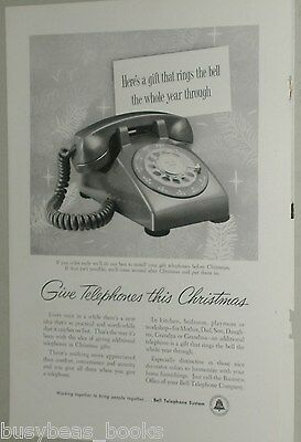 1957 Bell Telephone advertisement, photo of Rotary Dial desk phone