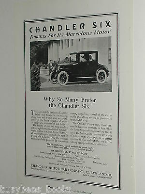 1920 Chandler Motor Car Co. advertisement, CHANDLER Six coupe