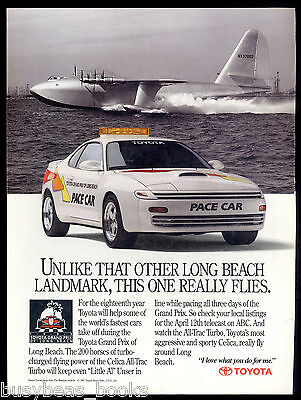 1991 TOYOTA CELICA advertisement, Long Beach Grand Prix PACE CAR