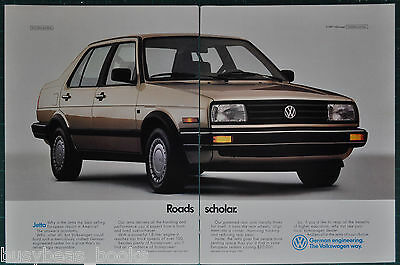 1988 VOLKSWAGEN JETTA 2-page advertisement, VW Jetta 4-door, Roads Scholar
