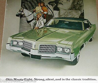 1969 Oldsmobile advertisement, Oldsmobile Ninety-Eight, Olds 98, silent movie