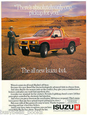 1988 ISUZU Pickup advertisement, Isuzu 4x4 pickup truck