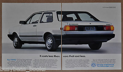 1988 VOLKSWAGEN FOX 2-page advertisement, VW Fox, big photo