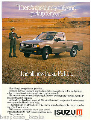 1988 ISUZU Pickup advertisement, Isuzu pickup truck