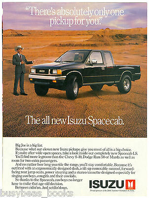 1988 ISUZU Pickup advertisement, Isuzu Spacecab pickup truck