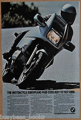 1985 BMW K100RS MOTORCYCLE advertisement, BMW K 100 RS bike